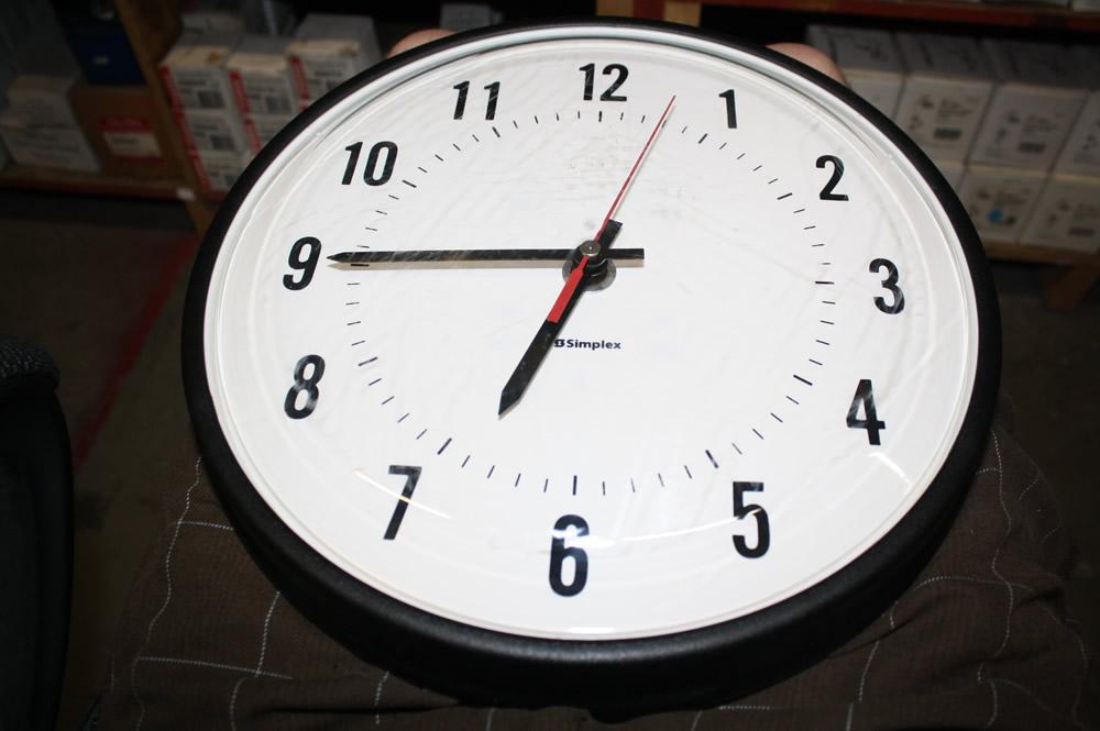 simplex 6310 9331 time indicating 12 quot school house clock ebay
