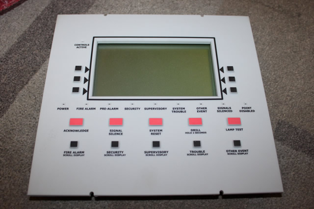 Notifier Lcd 160 Lcd Annunciator And Control Panel Ebay